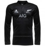 New Zealand All Blacks Long Sleeve Rugby Jersey 2016 Home