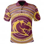 Polo Brisbane Broncos Rugby Jersey 2021 Indigenous