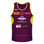Brisbane Broncos Rugby Tank Top 2018-2019 Brown
