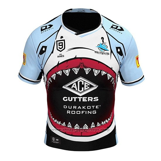 Cronulla Sutherland Sharks 9s Rugby Jersey 2020 Blue