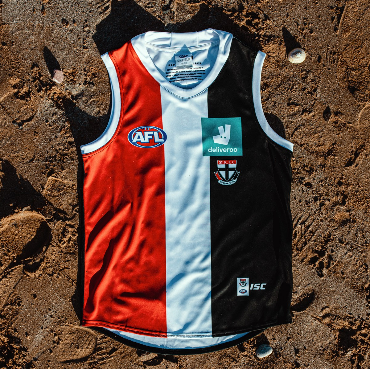 St Kilda Saints AFL Guernsey 2019 Red White Black